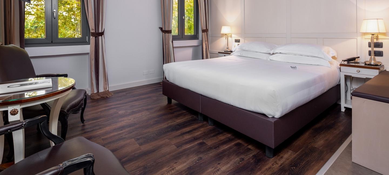 Spazio e comfort nelle camere deluxe a Vicenza